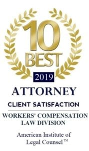 10 Best Attorney Client Satisfaction Workers' Compensation Law Division